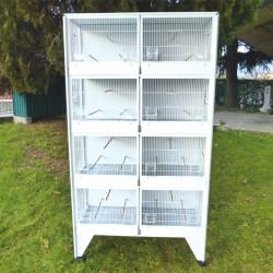 Batterie d'élevage 8 cages