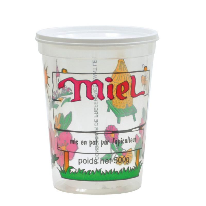 Pots à miel plastique