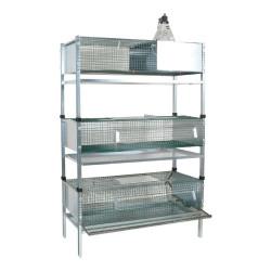Kit complet cage d'élevage cailles