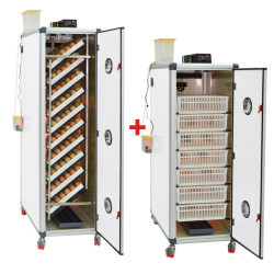 Couveuse automatique 700 oeufs( Cimuka HB700S) + Eclosoir 500 oeufs  (Cimuka HB500H)